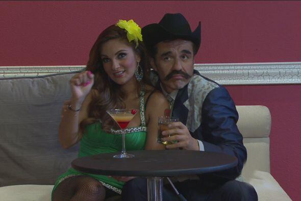 Don Serapio y Nancy disfrutaron todo el show que habían preparado.