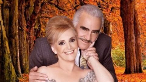 Vicente Fernández y Cuquita más de 50 años de amor.