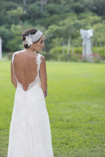Zuria lució bellísima enfundada en un romántico vestido de la casa españ...