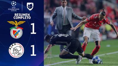 Benfica 1-1 Ajax - GOLES Y RESUMEN - Grupo E - UEFA Champions League