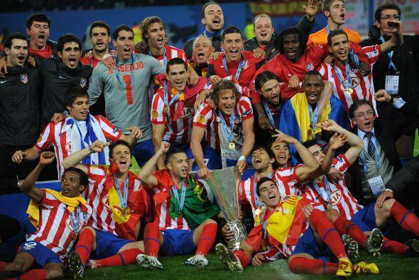 Peor otro equipo español dio de qué hablar, el Atlético de Madrid, que f...