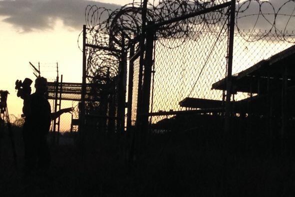 En la madrugada en la base de  Guantánamo. Es sólo una parte del sistema...