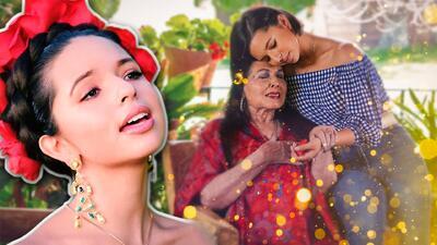 Ángela Aguilar estrenó 'Cielo rojo', video en el que la acompaña su abuelita Flor Silvestre