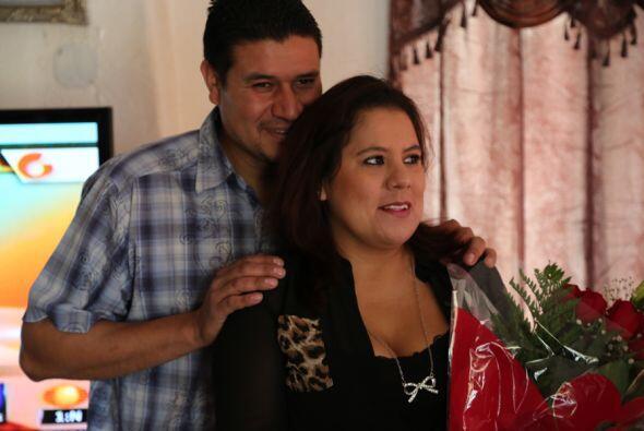 Aracely fue nuestra primera sorprendida...Su pareja Ignacio primeramente...