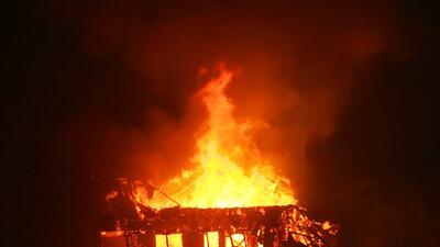 Incendio de San Bernardino deja cenizas y destrucción
