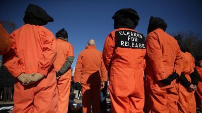 manifestación anti Guantánamo en Washington