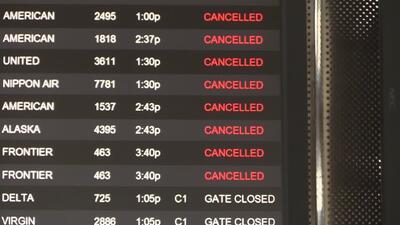 Cancelaciones y retrasos de vuelos en el aeropuerto de Raleigh