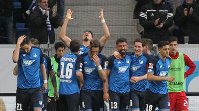 Hoffenheim celebró a costa de Bayer Leverkusen en la Bundesliga