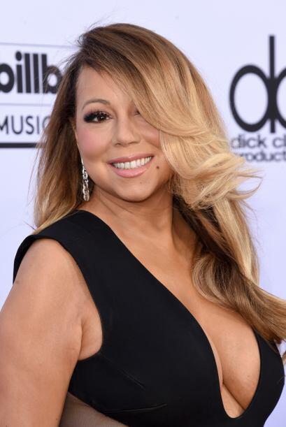 Esta vez los fans amaron el escote con el que Mariah llamó la atención.