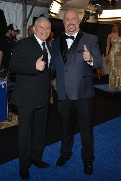 Dos estrellas de la casa, Ernesto Amador y el carismático 'Perro' Bermúdez.