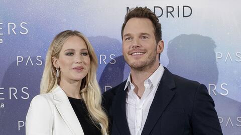 Chris Pratt y Jennifer Lawrence estuvieron en España