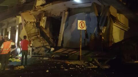 El hotel Ane Centro, en Oaxaca, colapsó totalmente debido al fuerte sism...