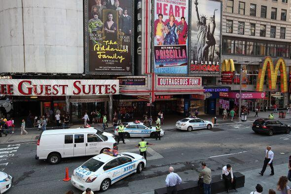 Sólo Times Square, territorio que sólo representa el 0.1% de todos los c...