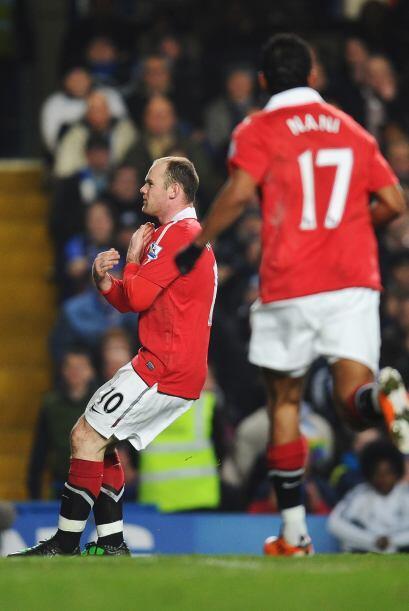 Wayne Rooney hizo una gran jugada para el primer gol.