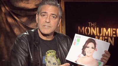 George Clooney tuvo en sus manos a Angélica Vale