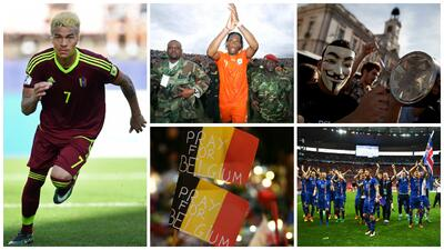 El balón, pretexto para unir: países futboleros azotados por crisis