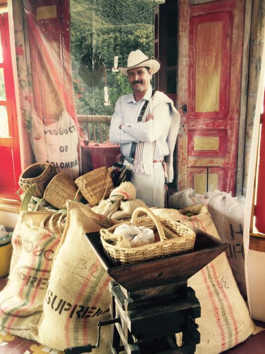 Finca de café en Colombia