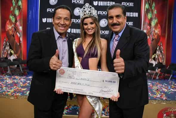 Y la ganadora fue... ¡Greta! Esta hermosa cubana recibió la corona y $10...