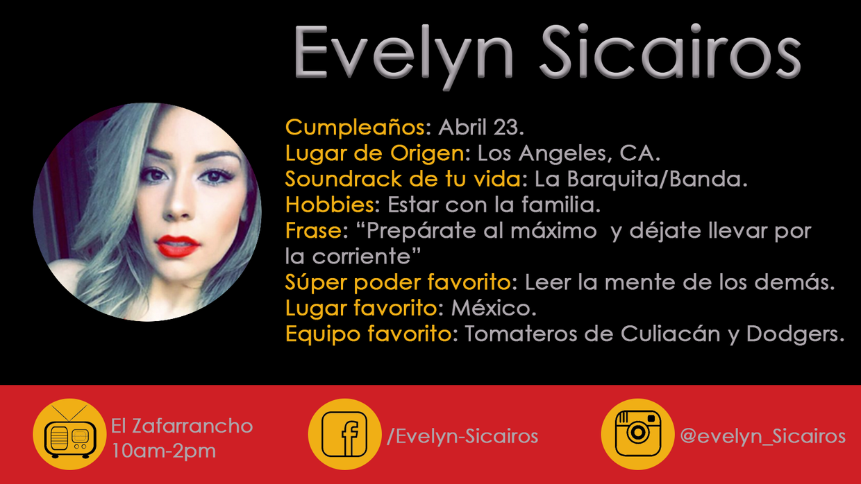 Evelyn Sicairos Bio