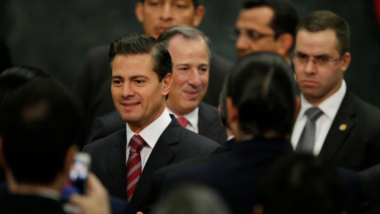 Mexican president Enrique Peña Nieto annointed his would-be successor an...