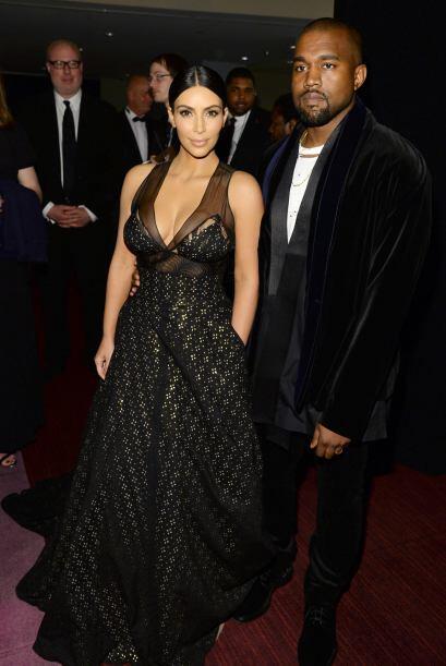 Y, para variar, Kanye no soltaba ni una sonrisita.
