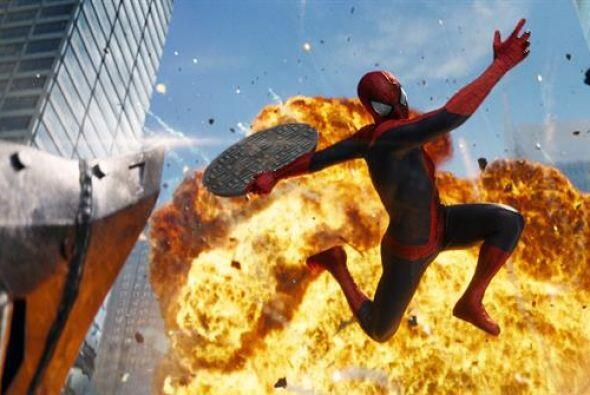 """Spider man volvió al escenario neoyorquino de """"The Amazing Spider -man""""..."""