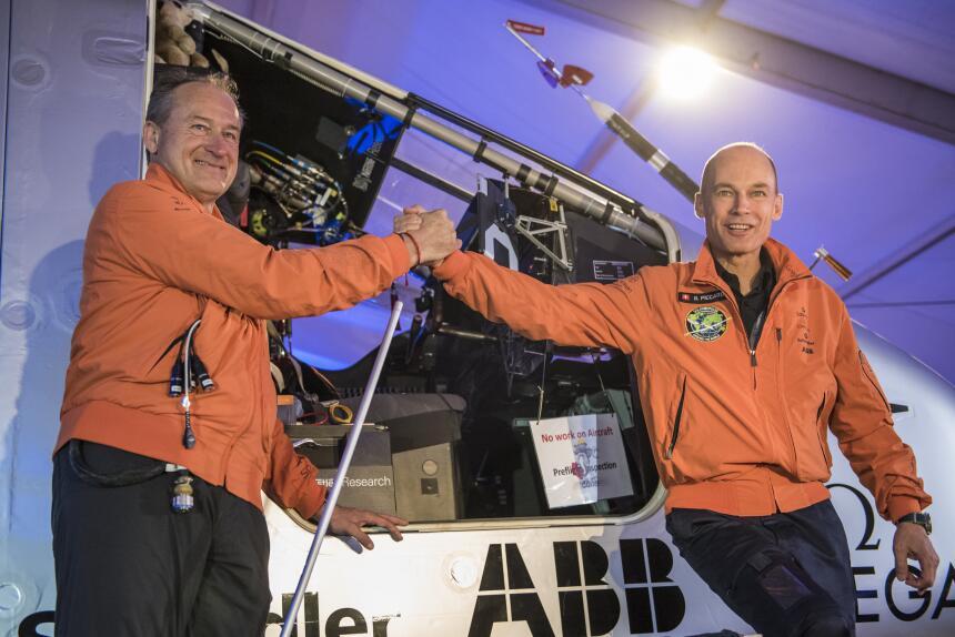 Los pilotos e impulsores del proyecto son los suizos Bertrand Piccard y...