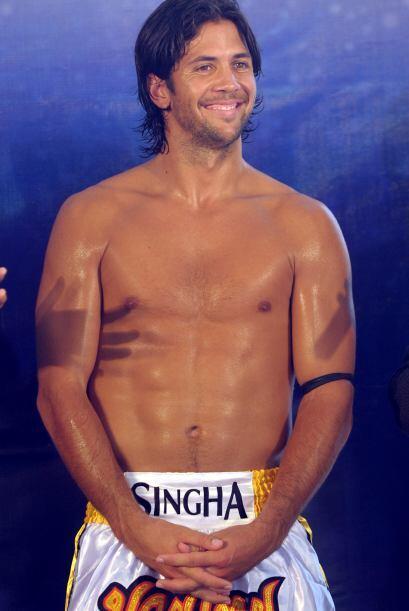 El español Fernando Verdasco participó en una sesión de Box Thai, como p...