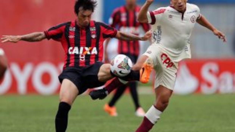 Atlético Paranaense en la Copa Libertadores.