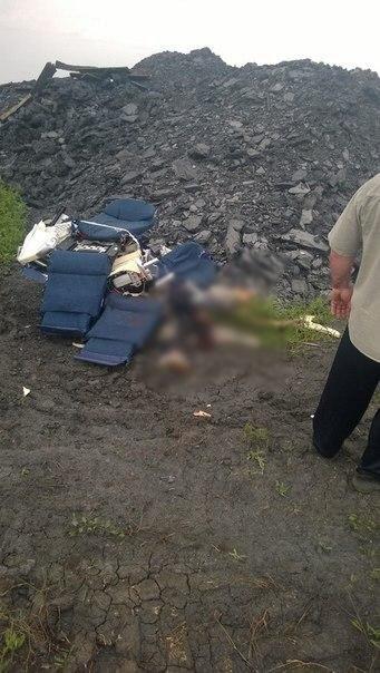 Decenas de cadáveres estaban esparcidos alrededor de los restos h...