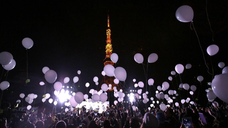 Los tradicionales globos en Tokio.