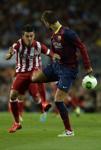 David Villa, anotador ante su ex equipo en el encuentro de ida, no estuv...