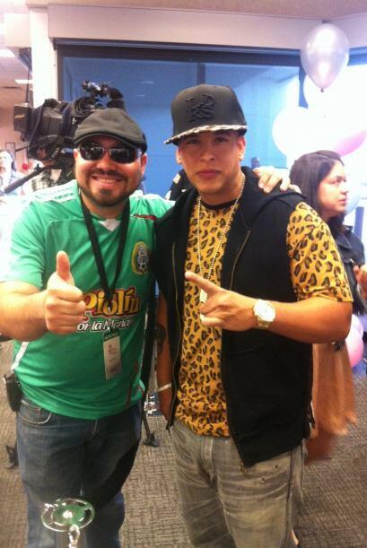El reggaetonero estuvo en el evento My Fabulous 15 el sábado 7 de julio...