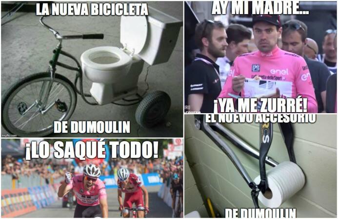 Los memes no perdonan a Dumoulin tras su diarrea en el Giro de Italia Me...