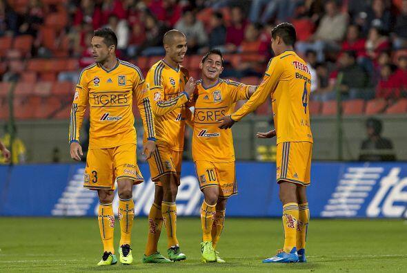 Tigres (14), Veracruz (13) y los camoteros (11), no tienen el escenario...