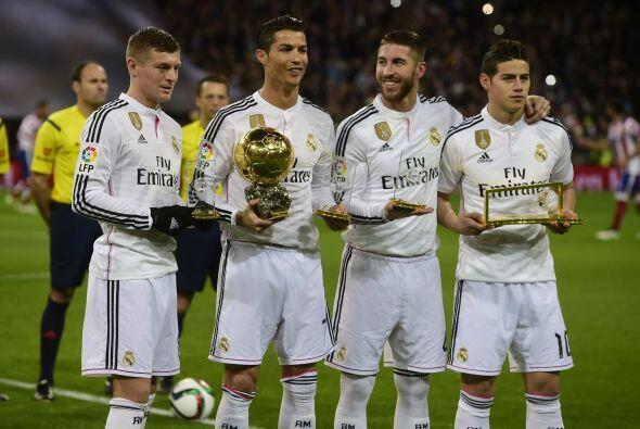 Toni Kroos, Cristiano Ronaldo, Sergio Ramos y James Rodríguez saltaron a...
