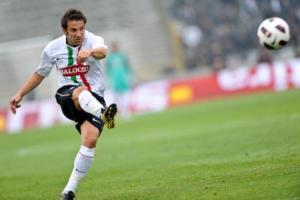 Alessandro del Piero y la 'Vecchia Signora' siguen con fallas en el ataque.