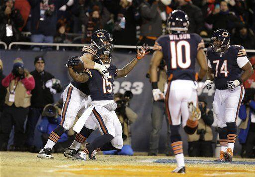 Brandon Marshall, receptor de los Chicago Bears (AP-NFL)