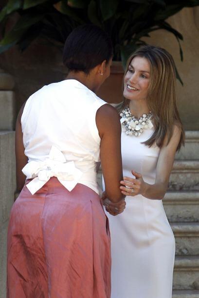 Letizia Ortiz atendió a Michelle Obama, en ausencia del  príncipe de Ast...