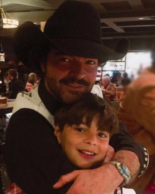 Pablo  Montero y su hijo Daniel
