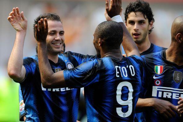 Giampaolo Pazzini abrió el marcador para los locales al minuto 25.
