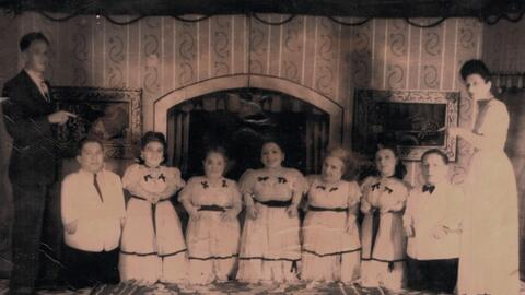 La familia famosa familia hungara Ovitz, logró sobrevivir al camp...