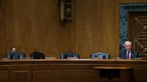 El senador republicano Orrin Hatch anuncia dos confirmaciones de nominad...