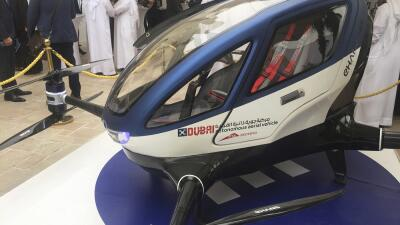 Un modelo del drone EHang 184 presento en Dubái.