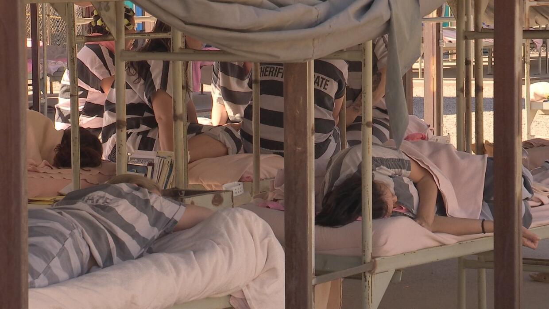 """""""Tent City"""" fue construida para albergar hasta 2,100 presos, p..."""