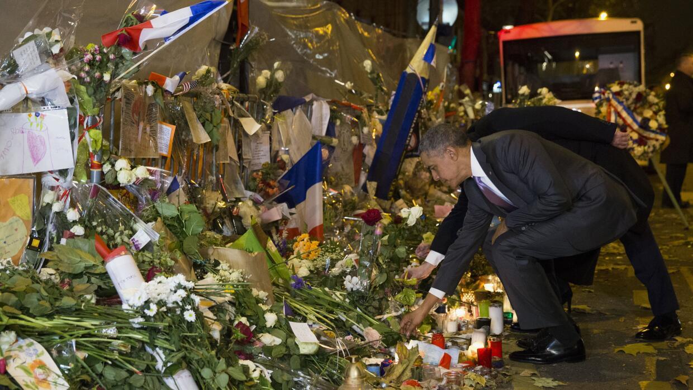 Barack Obama en la sala de conciertos Bataclan