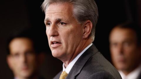 Kevin McCarthy, líder republicano en la Cámara de Representantes