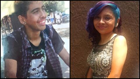 Adrián González, de 14, y Jaylin Mazariegos, de 15.