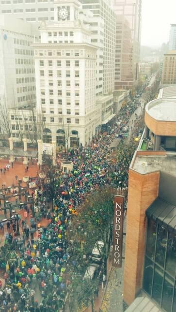 Miles de aficionados en Portland recibieron a los campeones de la MLS, P...