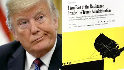 Los 'mensajes en clave' que explican el artículo anónimo de un alto funcionario de la Casa Blanca contra Trump